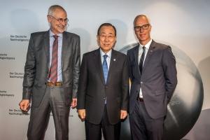 Empfang Ban Ki-moon mit Hans Peters und Wolfgang Pott