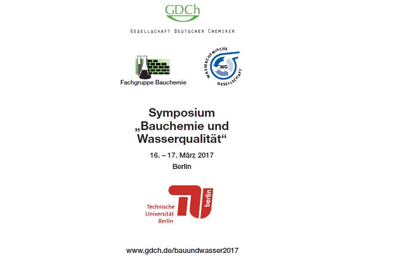 """Symposium """"Bauchemie und Wasserqualität"""""""