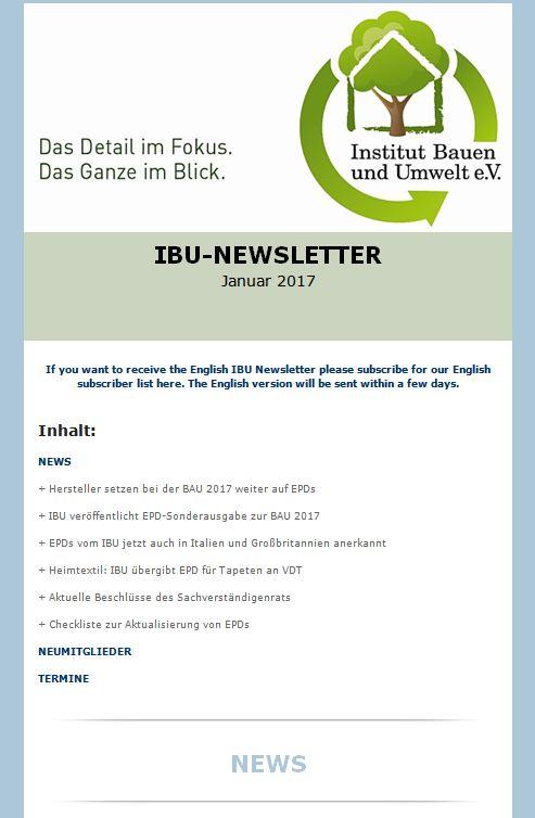 IBU Newsletter 2017