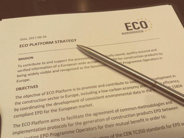 ECO Platform Strategy Oslo