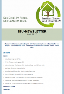 IBU Newsletter
